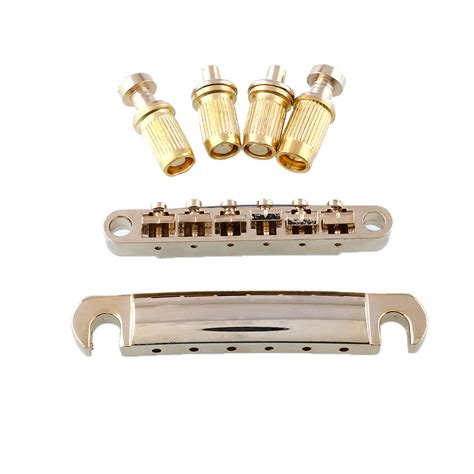 Bridge Gitar Gibson Lp Tune O Matic Gold gold tune o matic bridge tailpiece stop bar set for gibson