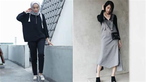 Wanita Oversize 15 inspirasi baju warna gelap buat cewek kurus yang