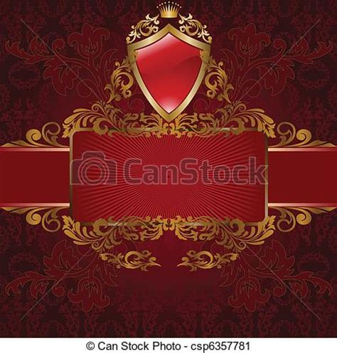 royal background stock illustration image of vector clip of royal symbols on frame with gold