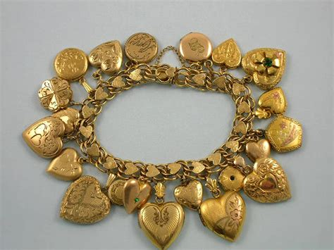 The Love Nest: Charmed I?m Sure ? A collection of charm bracelets   Ruby Lane Blog