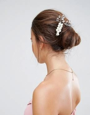 Bridal Faux Pearl Hair Clip bridal wear bridal dresses shoes jewelry asos