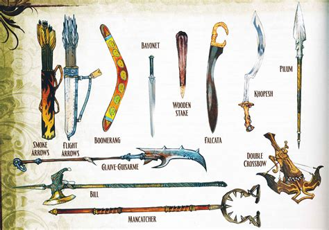 pathfinder roleplaying advanced player s guide weapon illustrations from the advanced pathfinder player s