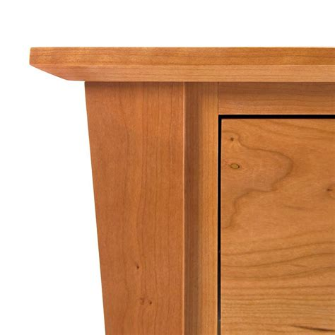 night table solid wood regular height with door andrews natural cherry night stand with door handcrafted