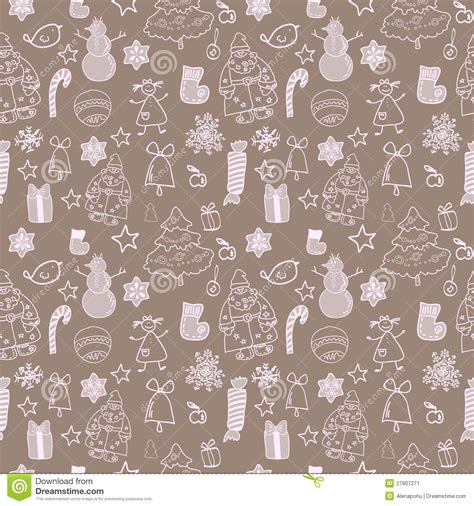 seamless christmas pattern vector funny winter christmas vector seamless pattern stock