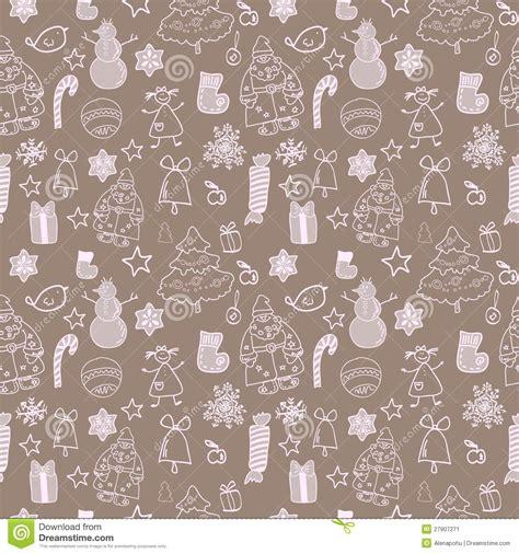 xmas pattern vector funny winter christmas vector seamless pattern stock