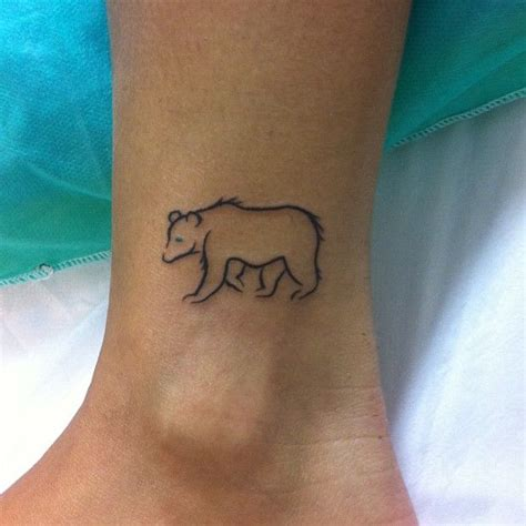bear outline tattoo outlines search tattoos