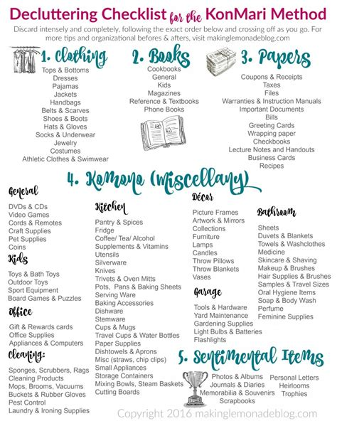 checklist for the ultimate free printable decluttering checklist for