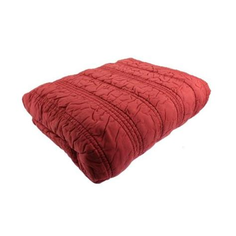 red coverlet bar iii new ruffle red cotton quilted blanket coverlet