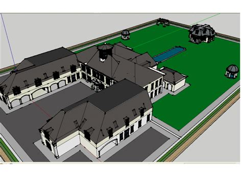 home design using google sketchup another homes of the rich reader s google sketchup mansion