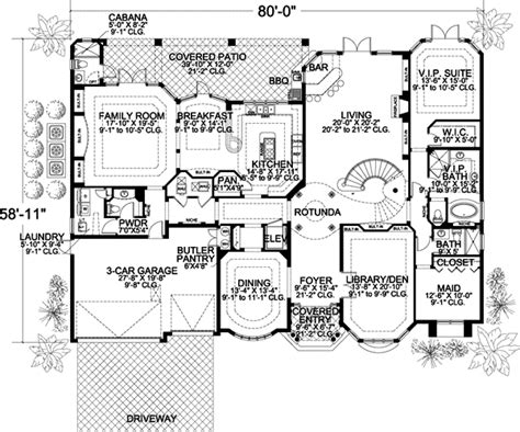 7 bedroom house plans florida style house plans plan 37 189
