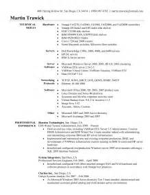 it support engineer resume sle system engineer resume exle 12 images fast help free