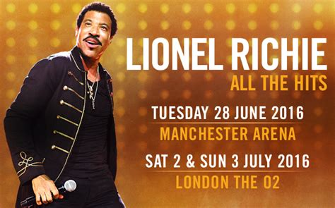 Richie Now Wasting Away In The Uk by O2 Lionel Richie Official Website News And Media
