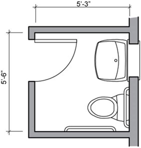 half bath floor plans water closet and inward swinging door a 28 875 square