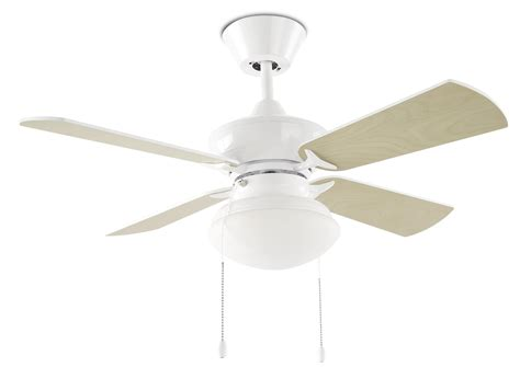 white fan with light opal light white ceiling fan