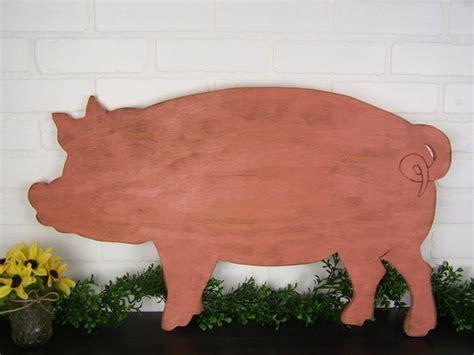country pig decor wooden pig sign farm decor pig kitchen decor