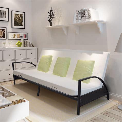 sofa bed metal vidaxl co uk foldable metal sofa bed