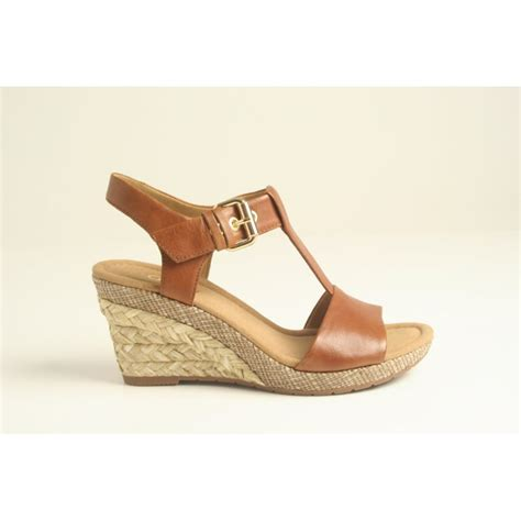 gabor gabor style quot quot peanut leather t bar wedge