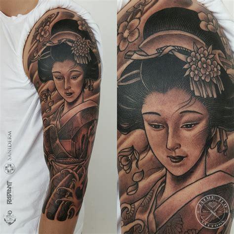 tattoo geisha orientale jaime deleon tud certified artist