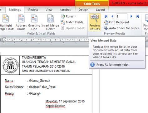 membuat kartu pelajar dengan mail merge fardian imam m membuat kartu ujian dengan mail merge dan