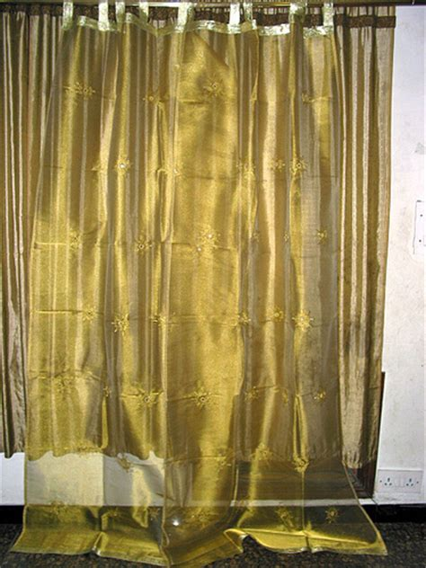 gold sheer curtain panels 2 organza sari curtains drapes mirror gold sheer panels 92