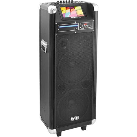 Kit Karaoke Multi Media Active Speaker Plus Subwoofer Bx6000 1 pyle pro pkrk210 10 quot 1000 watt karaoke vibe pkrk210 b h