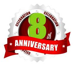 8th anniversary celebrations vector logo template