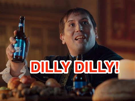 bud light commercial dilly what dilly dilly means and how bud light came up with