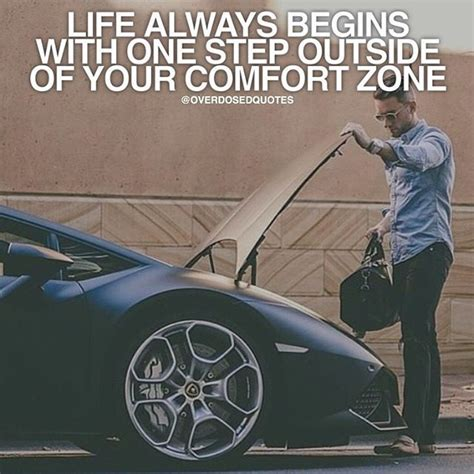 outside of your comfort zone life always begins with one step outside of your comfort