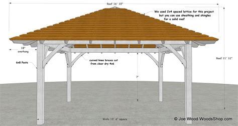 Hip Roof Pavilion Plans hip roof pavilion design