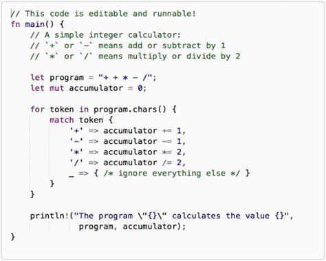 Rust Language Pattern Matching | the rust programming language alvinalexander com
