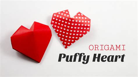 Origami 3d Hearts - learn how to fold a 3d origami for s
