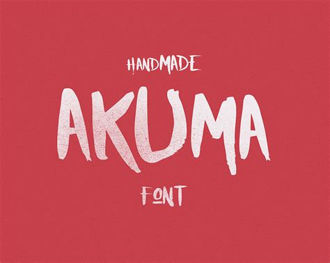 Handcrafted Font - akuma handcrafted font visual hierarchy