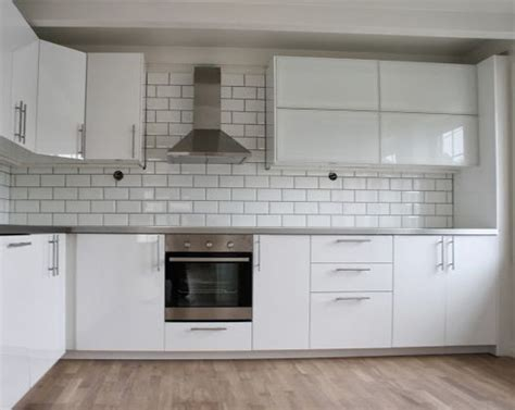 haggeby kitchen ikea ringhult kitchen in gloss white island ideas