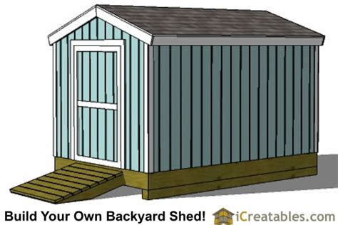 Shed Designs 8 X 12 by 8x12 Shed Plans Storage Shed Plans Icreatables