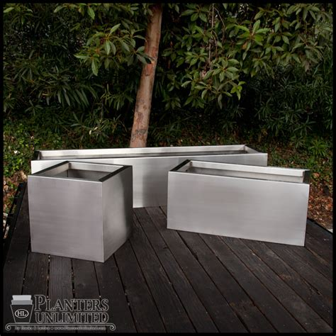 stainless steel planters stainless steel planters steel planter boxes planters unlimited