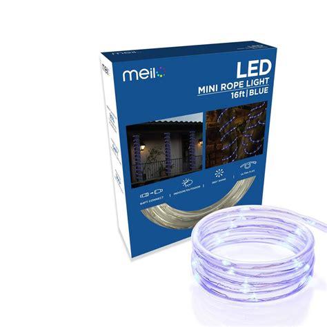 18 ft mini led lights meilo 16 ft 80 led blue mini light ml11 mrl16 bl
