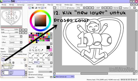 tutorial lukis doodle guna paint tool sai milimilo now everyone can doodle doodle tutorial using