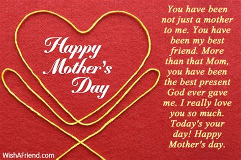 happy mother s day to the best friend heaven sent happy mothers day messages 2018 mother s day card