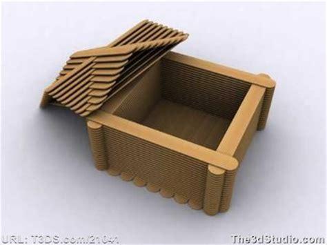 Handmade Things With Sticks - 3d huisje ijsstokjes ijsstokjes