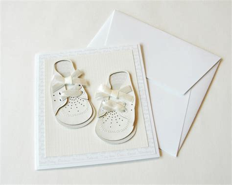 Baby Handmade Cards - baby cards handmade baby shoes blank card boy or by