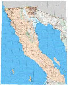 baja california norte mexico map