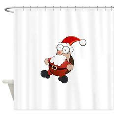 santa suit shower curtain santa claus shower curtain on pinterest