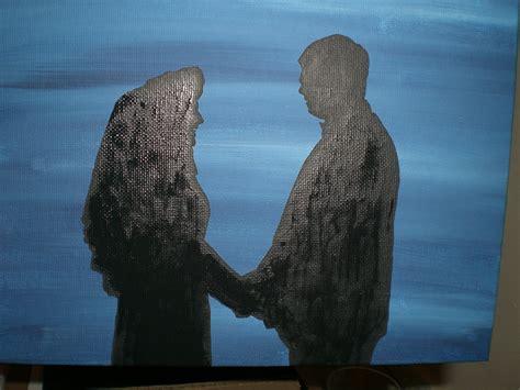 Simple yet stunning silhouette painting   Random Creativity