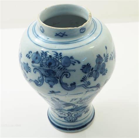 Delft Vase Value by Antiques Atlas 18th Century Delft Blue White Vase
