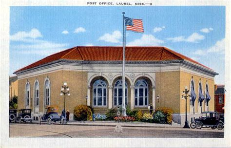 Laurel Post Office Hours by Postcards From Jones County Mississippi