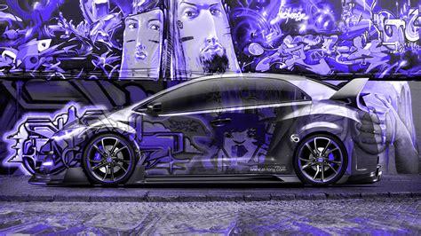 graffiti wallpaper car honda civic type r jdm side crystal graffiti car 2014 el