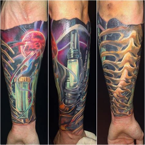 biomechanical tattoo in colour biomechanical tattoos for men ideas and inspiration for guys