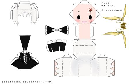 D D Papercraft - allen walker papercraft by tsunyandere on deviantart