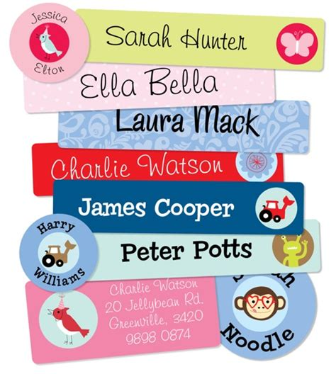 Aufkleber Kindernamen by Name Tags For Kids Making Things Easily Recognised Iron
