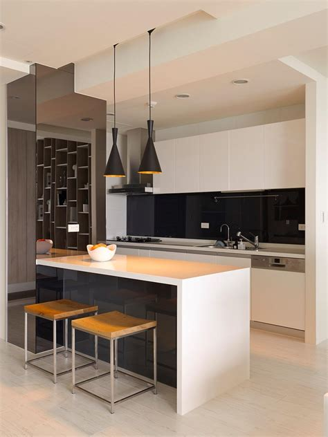 white kitchen black island black white kitchen island interior design ideas